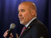 US Representative Tom MacArthur (R-NJ) speaks to constituents during a town hall meeting in Willingboro, New Jersey on May 10, 2017. MacArthur wrote the amendment to the American Health Care Act that revived the failed bill, delivering a legislative victory for US President Donald Trump. / AFP PHOTO / DOMINICK REUTER (Photo credit should read DOMINICK REUTER/AFP/Getty Images) Restrictions