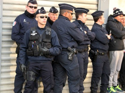 BEAUCAIRE, FRANCE - JANUARY 11: Police stand guard duing the far-right Front National Unity rally 'Marche Republicaine' on January 11, 2015 in Beaucaire, France. The French far-right National Front (FN) held their own rally after being excluded from the Paris unity rally. An estimated one million people have converged in …