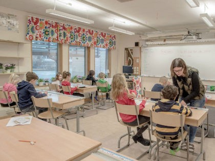 HALMSTAD, SWEDEN - FEBRUARY 08: Swedish students are seen in a classroom of a school on February 8, 2016 in Halmstad, Sweden. Last year Sweden received 162,877 asylum applications, more than any European country proportionate to its population. According to the Swedish Migration Agency, Sweden housed more than 180,000 people …