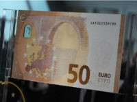 A new 50 euro banknote is presented at the European Central Bank (ECB) in Frankfurt am Main, western Germany, on July 5, 2016. / AFP / DANIEL ROLAND (Photo credit should read DANIEL ROLAND/AFP/Getty Images)