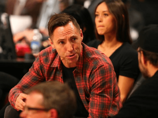 Former NBA player Steve Nash looks on in the Verizon Slam Dunk Contest during NBA All-Star Weekend 2016 at Air Canada Centre