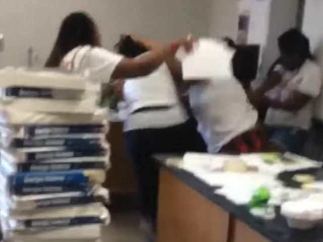 VIDEO: Teacher, Staff Member Brawl in Front of Students
