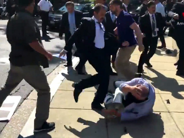 Image result for erdogan security beating people