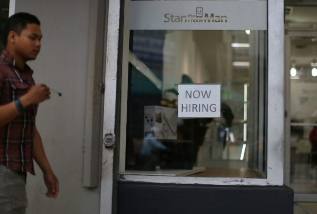 Unemployment falls to lowest level since May 2007