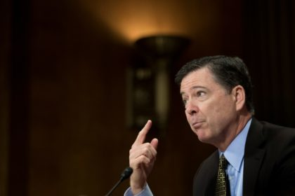 James Comey, who was fired as FBI director by President Donald Trump on Tuesday, testifying in Congress on May 3