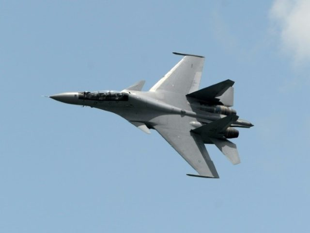 """China has denied US allegations that two Chinese Sukhoi SU-30 fighter jets -- like this one from the Royal Malaysian Air Force -- intercepted an American military plane earlier this week, saying its aircrafts were acting """"in accordance with the law"""""""