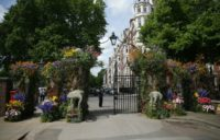 An entrance to the Chelsea Flower show