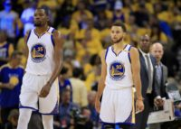 The partnership between  Kevin Durant and Stephen Curry helps power the Golden State Warriors to a 4-0 victory over the San Antonio Spurs