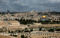 A general view taken on May 21, 2017, shows the Dome of Rock at the Al-Aqsa Mosque compound, a UNESCO heritage site, in the Old City of Jerusalem