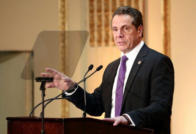New York Governor Andrew Cuomo says he is ordering additional patrols at 'high-profile locations' including airports and the subway