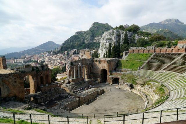 The Greek theatre of Taormina, near where the Group of Seven (G7) leaders will meet on May 26 and 27, 2017