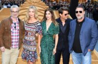 Tom Cruise (2/R) -- in Sydney with The Mummy director Alex Kurtzman (L), Annabelle Wallis, Sofia Boutella and Russell Crowe -- is known for performing his own stunts