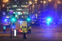 Pop stars and other celebrities voice horror and grief at the attack on a concert by US star Ariana Grande in Manchester, England
