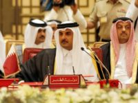 The emir of Qatar, Sheikh Tamim bin Hamad al-Thani, attends a Gulf summit in Bahrain on December 6, 2016