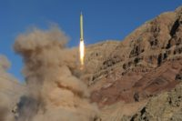 A medium-range Qadr ballistic missile is launched in the Alborz mountain range in northern Iran on March 9, 2016