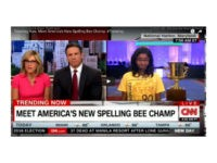"Alisyn Camerota, co-host of CNN's New Day with Chris Cuomo, interviewed Ananya Vinay after her victory Thursday at the Scripps National Spelling Bee in National Harbor, Maryland, and asked her to spell ""covfefe."" The host received backlash from Twitter users accusing her of making a racist comment toward the 12-year-old Indian American when she commented that the girl should know Sanskrit."