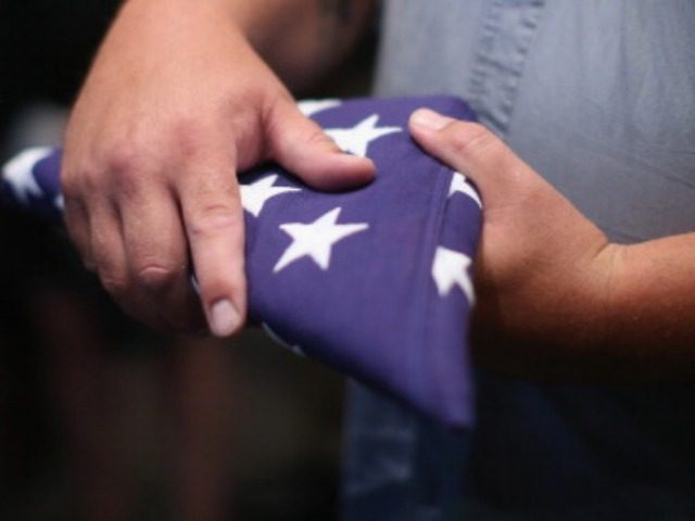 American Flag at Funeral