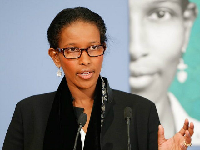 BERLIN, GERMANY - APRIL 13: Author Ayaan Hirsi Ali attends a book presentation of 'Reformiert Euch! Warum der Islam such aendern muss - Refurbished you! Why Islam must change' on April 20, 2015 in Berlin, Germany. Ayaan Hirsi Ali, born 13 November 1969, is a Somalia-born American activist, writer and …