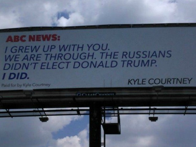 Texan Trump Supporter Pays for Billboard Ripping ABC over Russia Coverage - Breitbart