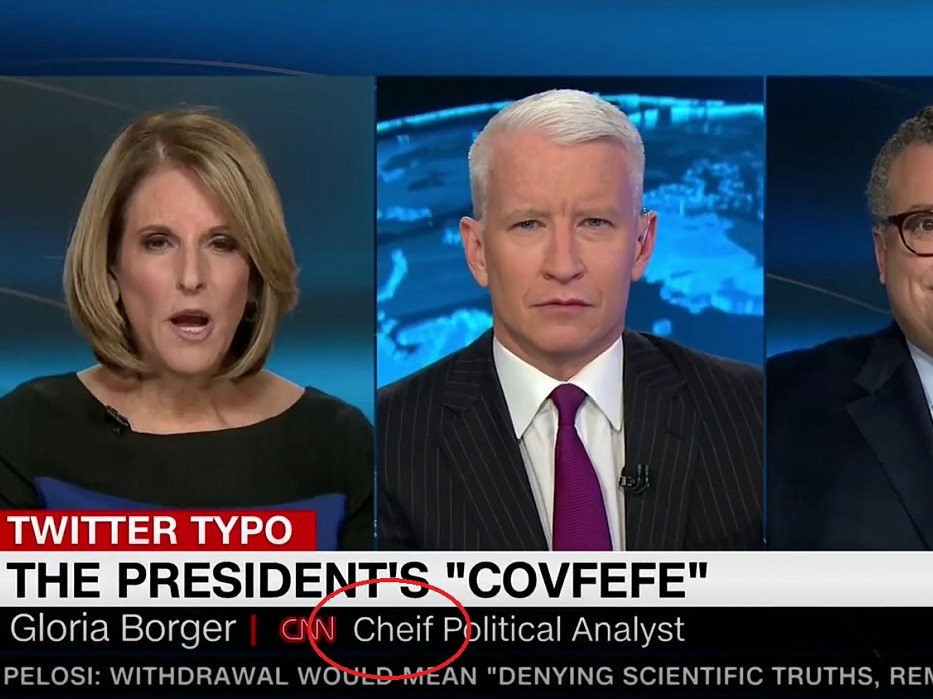 However During That Segment In Which Network Chief Political Analyst Gloria Borger Was Critical Of Trump Cnns Chyron Had Borger Identified As Cnn Cheif