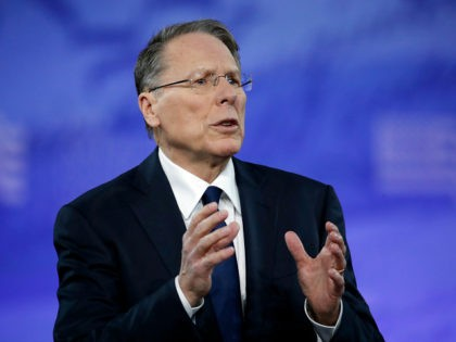 National Rifle Association (NRA) Executive Vice President and Chief Executive Officer Wayne LaPierre speaks at the Conservative Political Action Conference (CPAC), Friday, Feb. 24, 2017, in Oxon Hill, Md. (AP Photo/Alex Brandon)