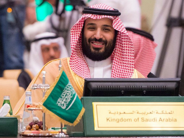 In this Thursday, April 27, 2017 photo released by Saudi Press agency, SPA, Saudi Defense Minister and Deputy Crown Prince Mohammed bin Salman reacts during the opening of the Gulf Cooperation Countries, GCC, Interior, Foreign, Defence Ministers Joint Meeting in Riyadh, Saudi Arabia. (Saudi Interior Ministry via AP)