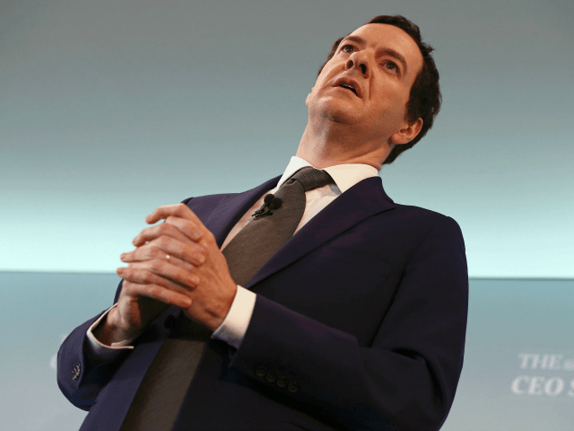 Britain's Chancellor of the Exchequer, George Osborne, speaks at The Times CEO summit on June 28, 2016 in London, England.