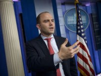 White House Deputy National Security Advisor Ben Rhodes speaks to reporters in the briefing room of the White House April 7, 2015 in Washington, DC. Rhodes was speaking about the suspected cyber attack on US government systems last year. AFP PHOTO/BRENDAN SMIALOWSKI (Photo credit should read BRENDAN SMIALOWSKI/AFP/Getty Images)