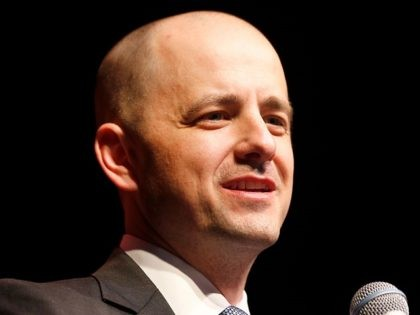 SALT LAKE CITY, UT - NOVEMBER 08: U.S. Independent presidential candidate Evan McMullin speak to supporters at an election night party on November 8, 2016 in Salt Lake City, Utah. Republican candidate Donald Trump was declared the winner in Utah late in the evening. (Photo by George Frey/Getty Images)