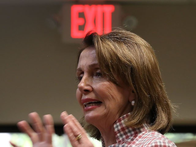 WILTON MANORS, FL - MAY 26: House Minority Leader Rep. Nancy Pelosi (D-CA) speaks during a discussion about LGBT rights at the Pride Center on May 26, 2017 in Wilton Manors, Florida. The discussion centered around the Equality Act, a bill that hopes to amend the Civil Rights Act of …