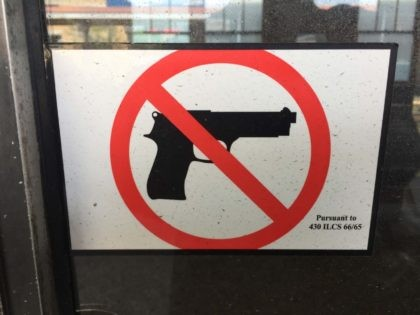 Gun-free zone dirty Illinois (Joel Pollak / Breitbart News)