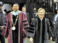 Hillary, Medgar Evers College APRichard Drew
