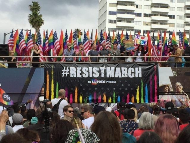 Los Angeles Gay Pride Resist March (Joel Pollak / Breitbart News)
