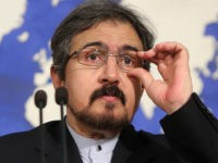TEHRAN, Aug. 22, 2016-- Iranian Foreign Ministry spokesman Bahram Qasemi addresses a press conference in Tehran, Iran, Aug. 22, 2016. Iran said on Monday that Russia has stopped using Iranian Hamedan airbase for carrying out operations against militants in Syria. (Xinhua/Ahmad Halabisaz via Getty Images)