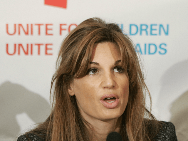 UNICEF UK Ambassador Jemima Khan speaks at the launch of the 'Unite for Children Unite Against Aids' campaign on October 25, 2005 in London, England.