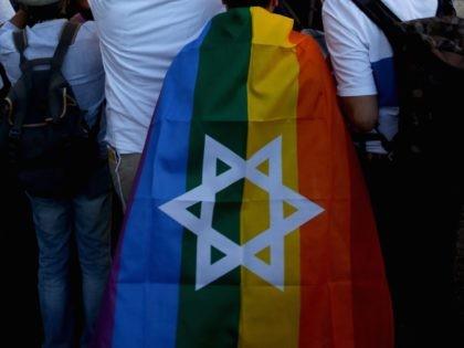Jewish gay pride flag (Gali Tibbon / AFP / Getty)