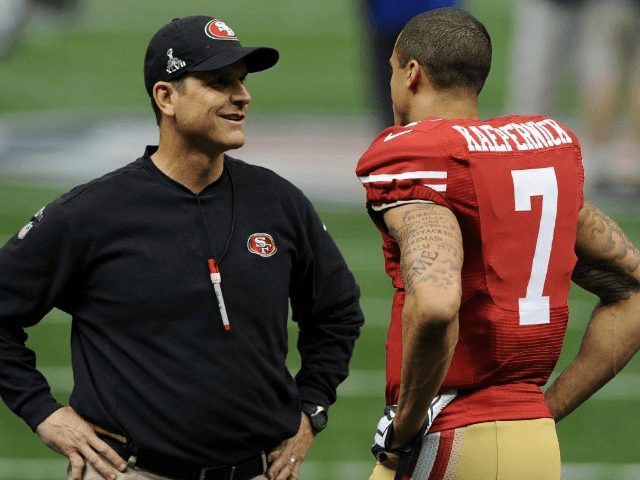 Jim Harbaugh: Americans 'lucky' to have 'remarkable' Colin Kaepernick