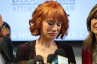 Kathy Griffin speaks during a press conference at The Bloom Firm on June 2, 2017 in Woodland Hills, California. (Frederick M. Brown/Getty Images)