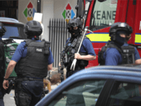 Counter terrorism officers are seen near the scene of last night's London Bridge terrorist attack on June 4, 2017 in London, England. Police continue to cordon off an area after responding to terrorist attacks on London Bridge and Borough Market where 7 people were killed and at least 48 injured …