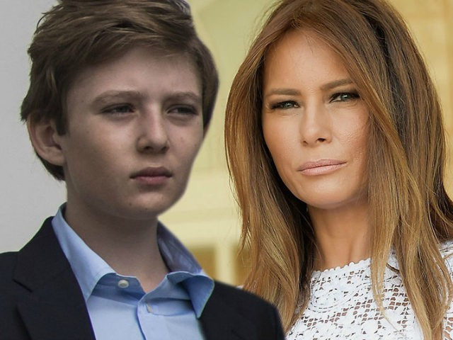 Melania and Barron Trump