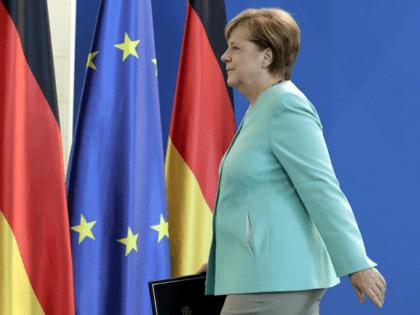 Merkel Flags Germany EU