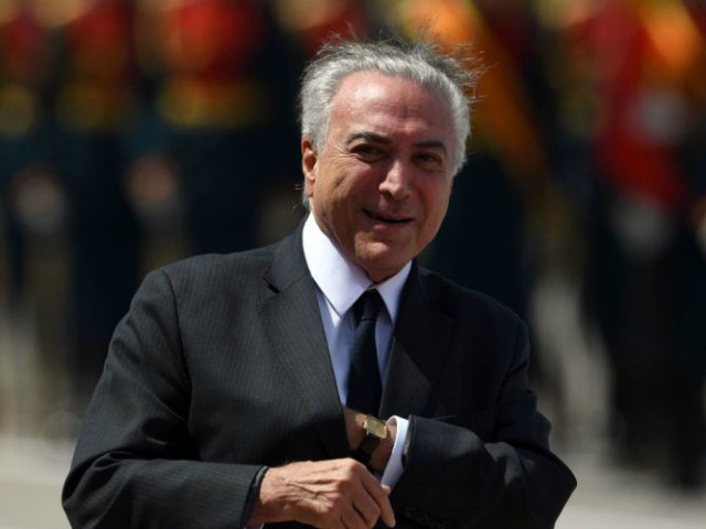 Brazil's President Temer Charged with Taking Six-Figure Bribe