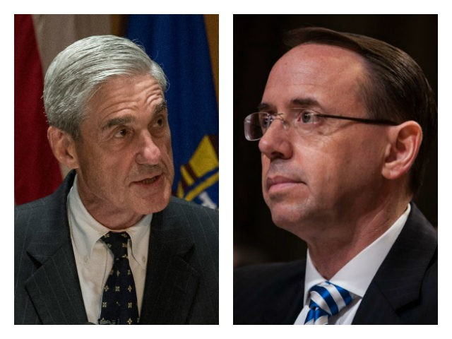Former FBI Director Robert Mueller and Deputy Attorney General Rod Rosenstein