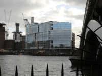 Construction continues around Battersea Power Station near the new U.S. Embassy on January 11, 2017 in London, England.