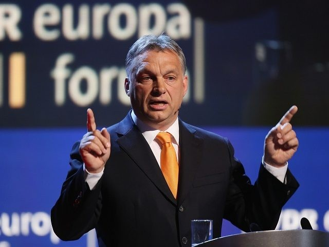 BERLIN, GERMANY - MAY 08: Hungarian Prime Minister Viktor Orban speaks at the Europaforum gathering of German broadcaster WDR at the Foreign Ministry on May 8, 2014 in Berlin, Germany. Orban, whose policies have drawn widespread criticism from other European Union member states as undemocratic and right-wing, is scheduled to …