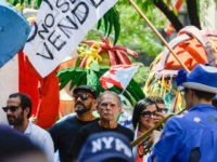 Political activist Oscar Lopez Rivera participates in the annual Puerto Rican Day Parade on 5th Ave. on June 11, 2017 in New York City. Tensions were heightened at this year's parade due to the participation of Oscar Lopez Rivera, a former Armed Forces of National Liberation member who served 35 …