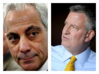 Bill de Blasio and Rahm Emanuel collage