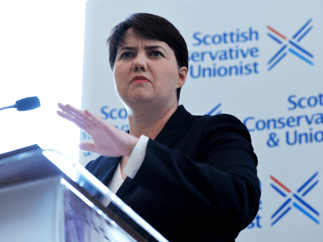 Scottish Conservative Leader Ruth Davidson speaks at a press conference after the Conservative party gained 12 seats in Scotland during the UK Parliamentary Election on June 9, 2017 in Edinburgh, Scotland.