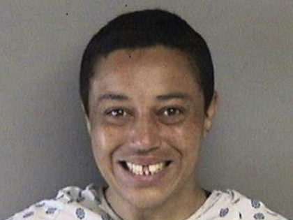 This mugshot shows 36-year-old Sayyadina Thomas, who allegedly confessed to approaching a random child and putting meth in his mouth in Berkeley, Calif. on June 5, 2017.