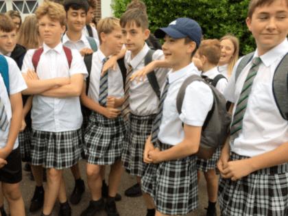 British Schoolboys Don Skirts Amid Shorts Ban in Heatwave